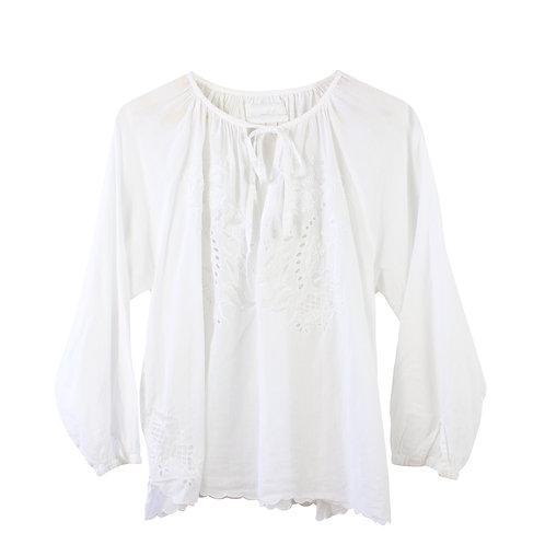 S/M | ZADIG & VOLTAIRE חולצה בוהו לבנה