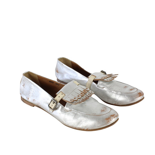 38 | SILVANO SASSETTI נעלי מוקסין כסופים