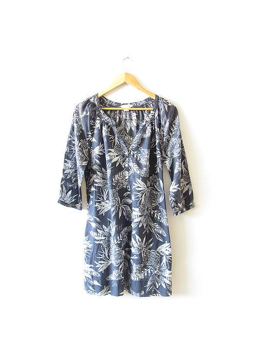 38 טוניקה -שמלה פרחונית כחולה מידה