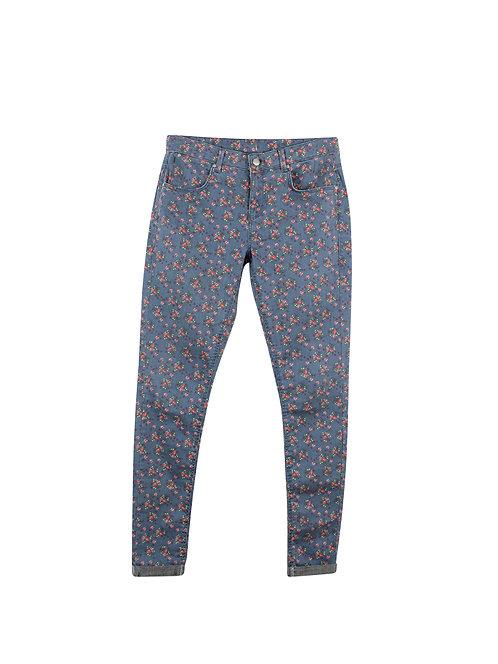 32 | TOPSHOP ג'ינס כחול פרחוני