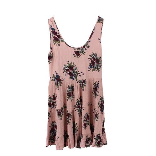 M | GLAMOROUS שמלה בורוד מעושן פרחוני