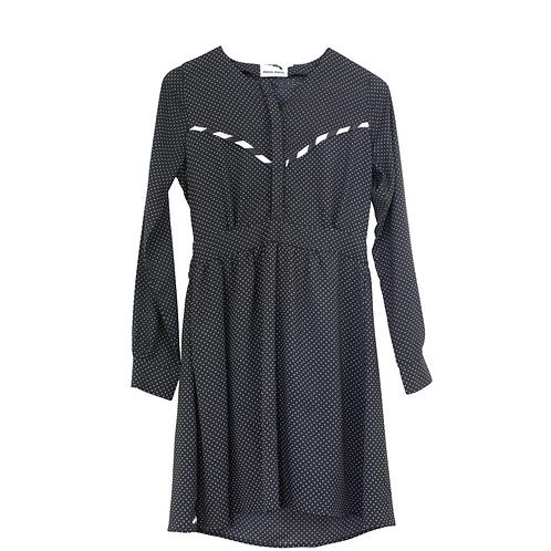 S | PIOO PIOO שמלה בשחור לבן