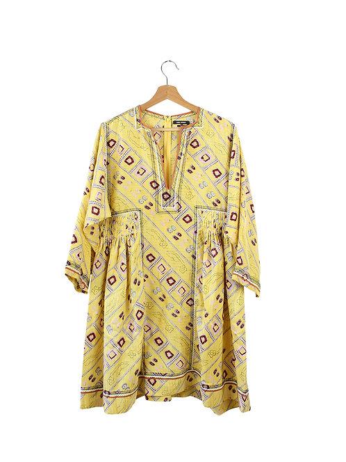 40 -ISABEL MARANT שמלת משי צהובה