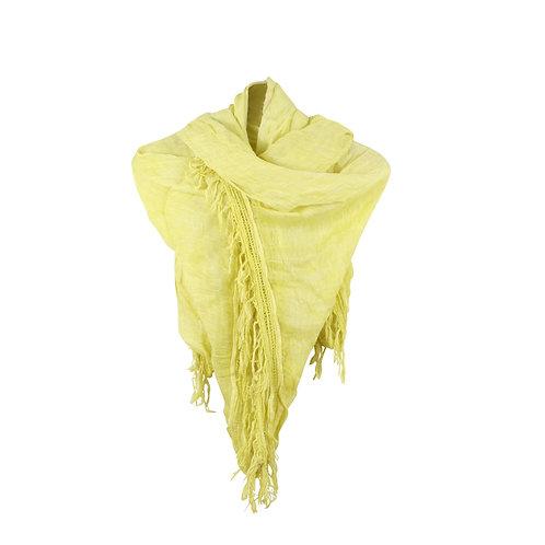 dondup   צעיף פשתן צהוב
