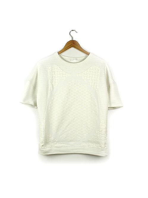 M חולצת טקסטורה לבנה