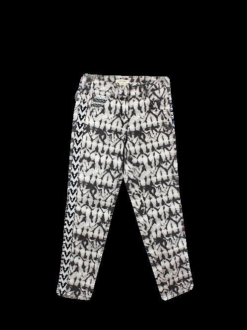 38 | ISABEL MARANT ג׳ינס הדפס אפריקאי
