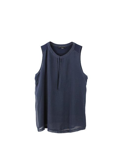 M | MANGO חולצה כחולה