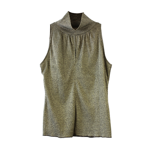XS | INBAL OHANA חולצת לורקס מוזהבת