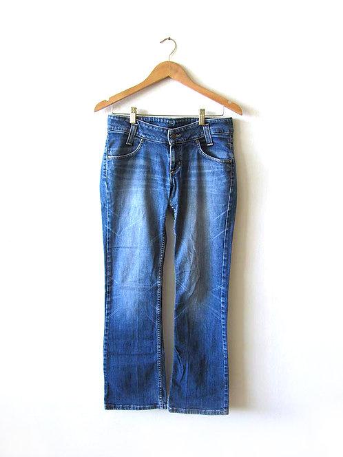 40  ג'ינס כחול ישר מידה