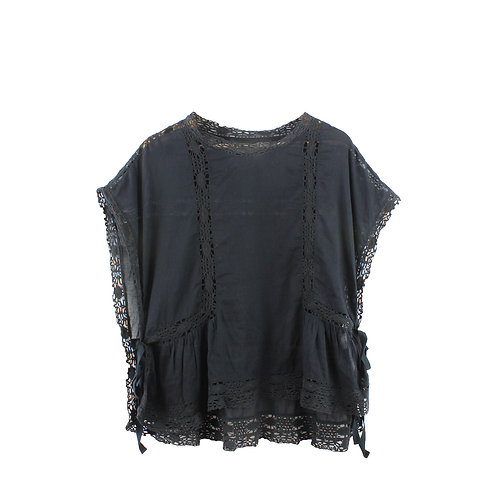 M   ISABEL MARANT ETOILE חולצת קרושה שחורה