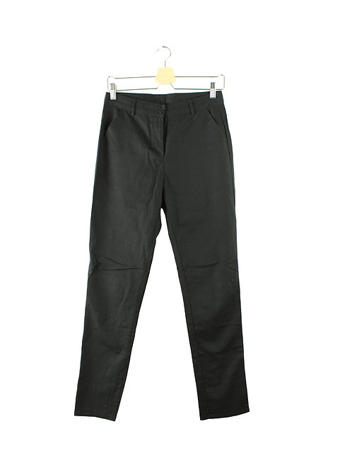 38 -KARIN A מכנסי בד שחורים