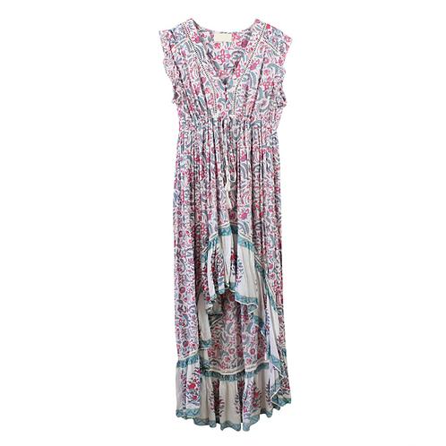 M | MISS JUNE שמלת בוהו אסימטרית