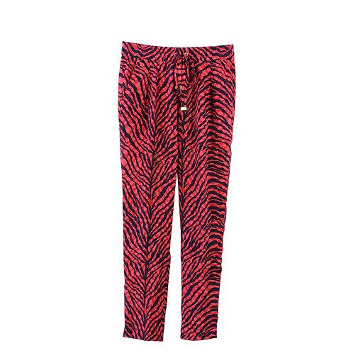 S | Juicy Couture מכנסי משי זברה