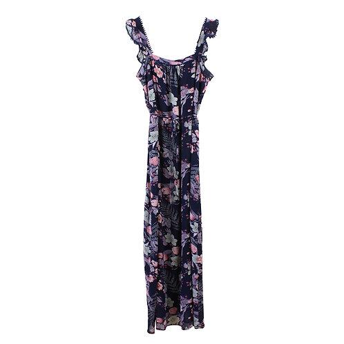 L | yanga שמלת מקסי פרחונית