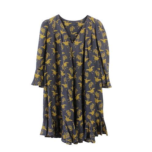 L | FRENCH CONNECTION שמלה חומה