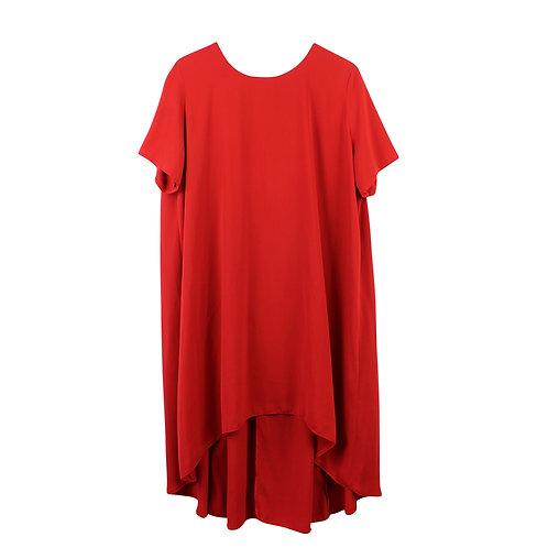 XL   asos שמלת אוברסייז אדומה