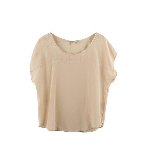 M | JOIE חולצת משי פודרה