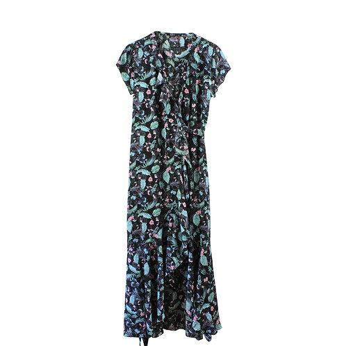 M/L | GOLF שמלת מעטפת פרחונית