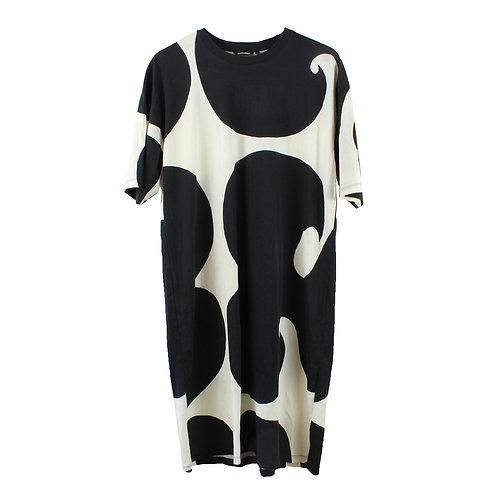 L | MARIMEKKO שמלה שחור לבן