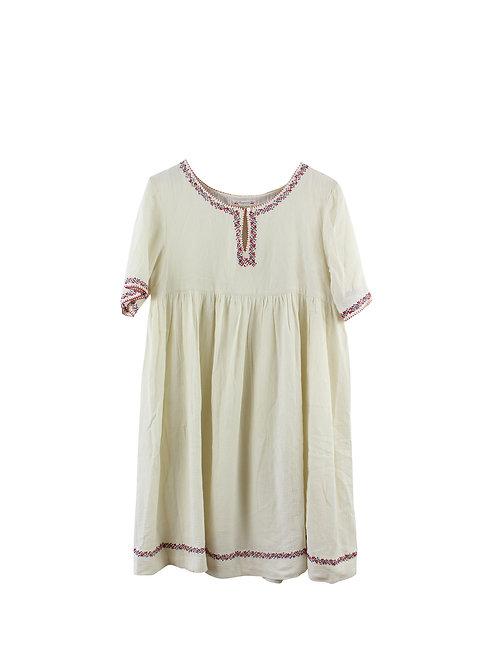 L  | Bonpoint שמלה כפרית רקומה