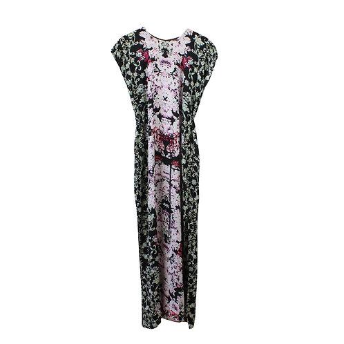 S\M | SABINA שמלת גלביה פרחונית