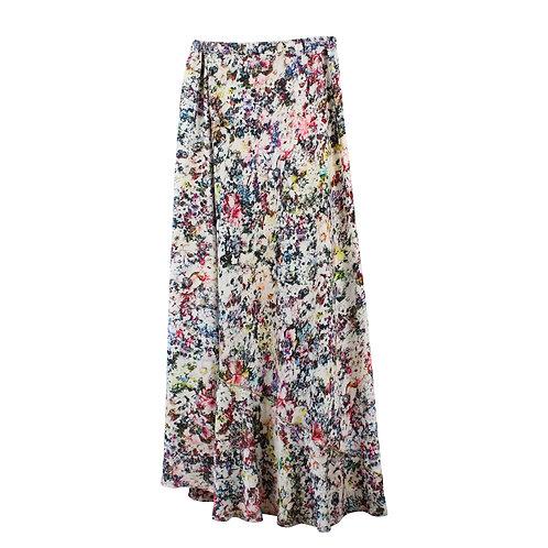 S | PIOO PIOO חצאית שסע פרחונית