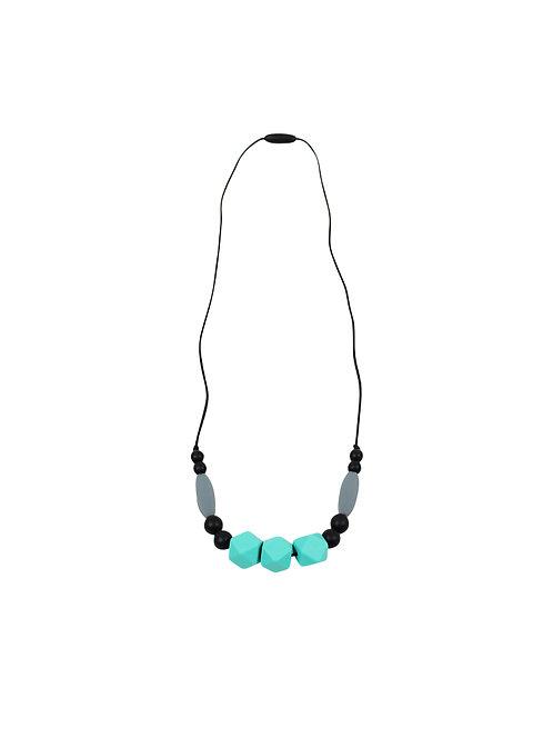 Ima-jewelry   שרשרת הנקה סיליקון טורקיז