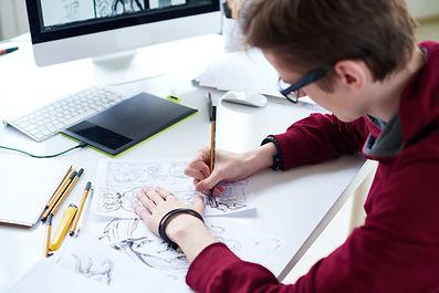 Het tekenen van een storyboard