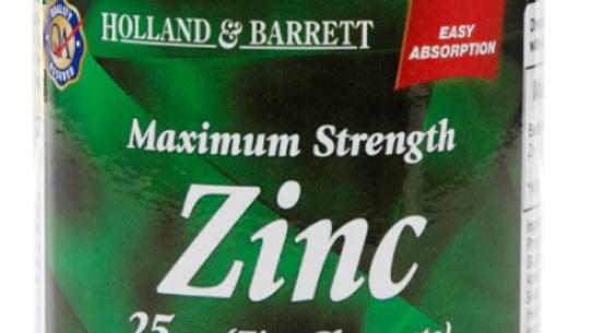 Holland & Barrett Zinc (250) Tablets 25mg