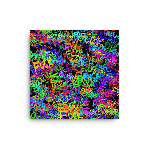 Colourful Language Canvas Print