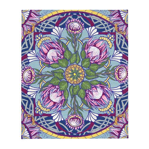 botanical mandala Throw Blanket