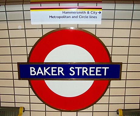 London tube station Baker Street