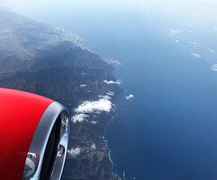 flying over Tenerife