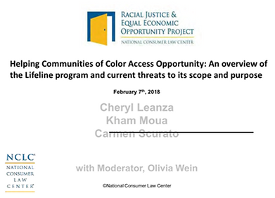 Helping Communities of Color Access Opportunity: An overview of the Lifeline program and current threats to its scope and purpose