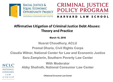 Affirmative Litigation of Criminal Justice Debt Abuses - Theory and Practice