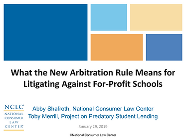 What the New Arbitration Rule Means for Litigating Against For-Profit Schools