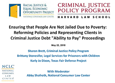 Ensuring that People Are Not Jailed Due to Poverty: Reforming Policies and Representing Clients in Criminal Justice Debt Ability to Pay Proceedings.