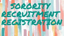 2021 Sorority Recruitment