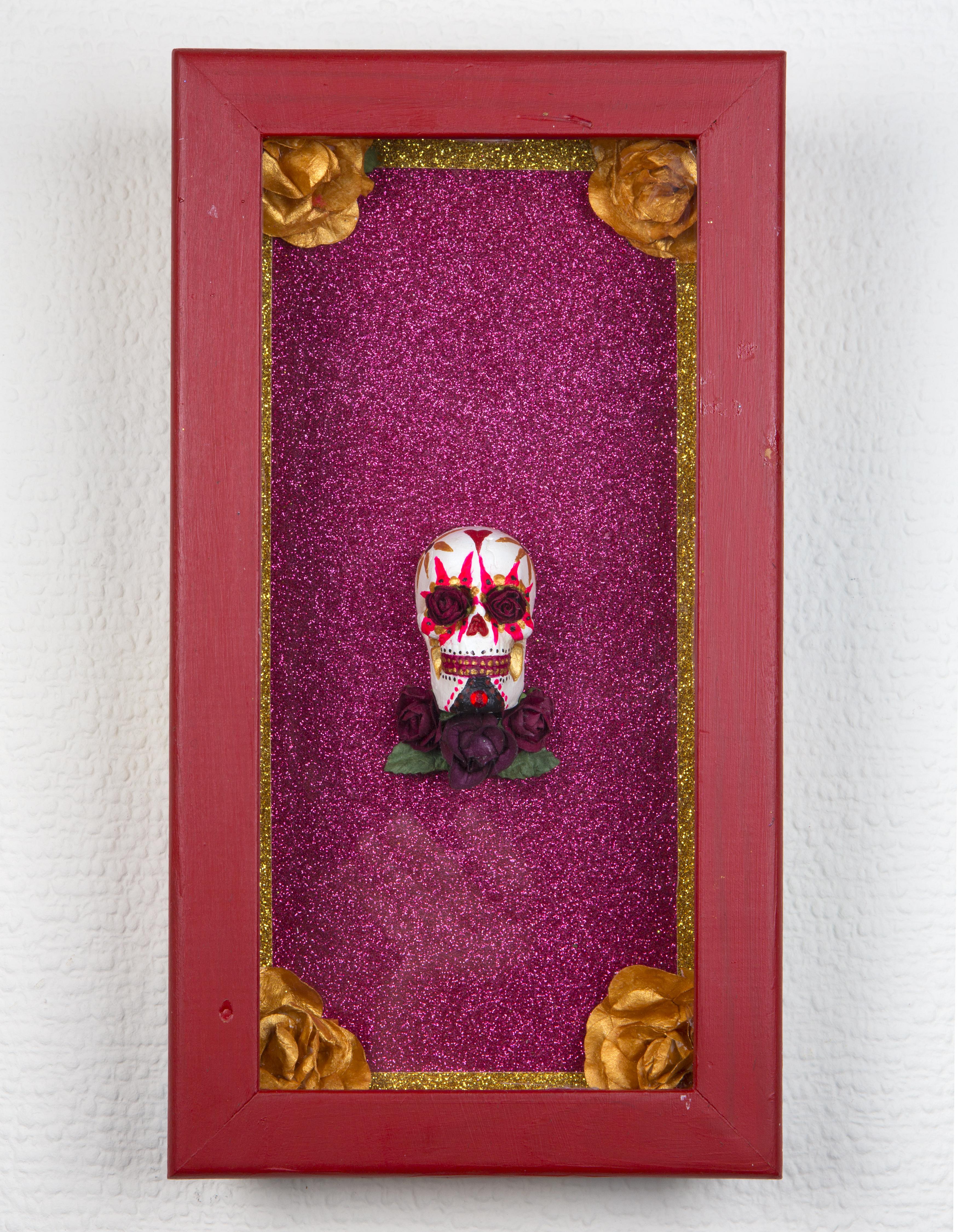 Miniature sugar skull lotería