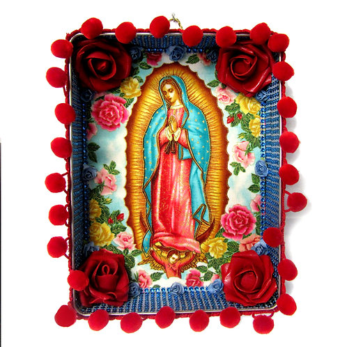 Our Lady Of Guadalupe Red Tin Box Art
