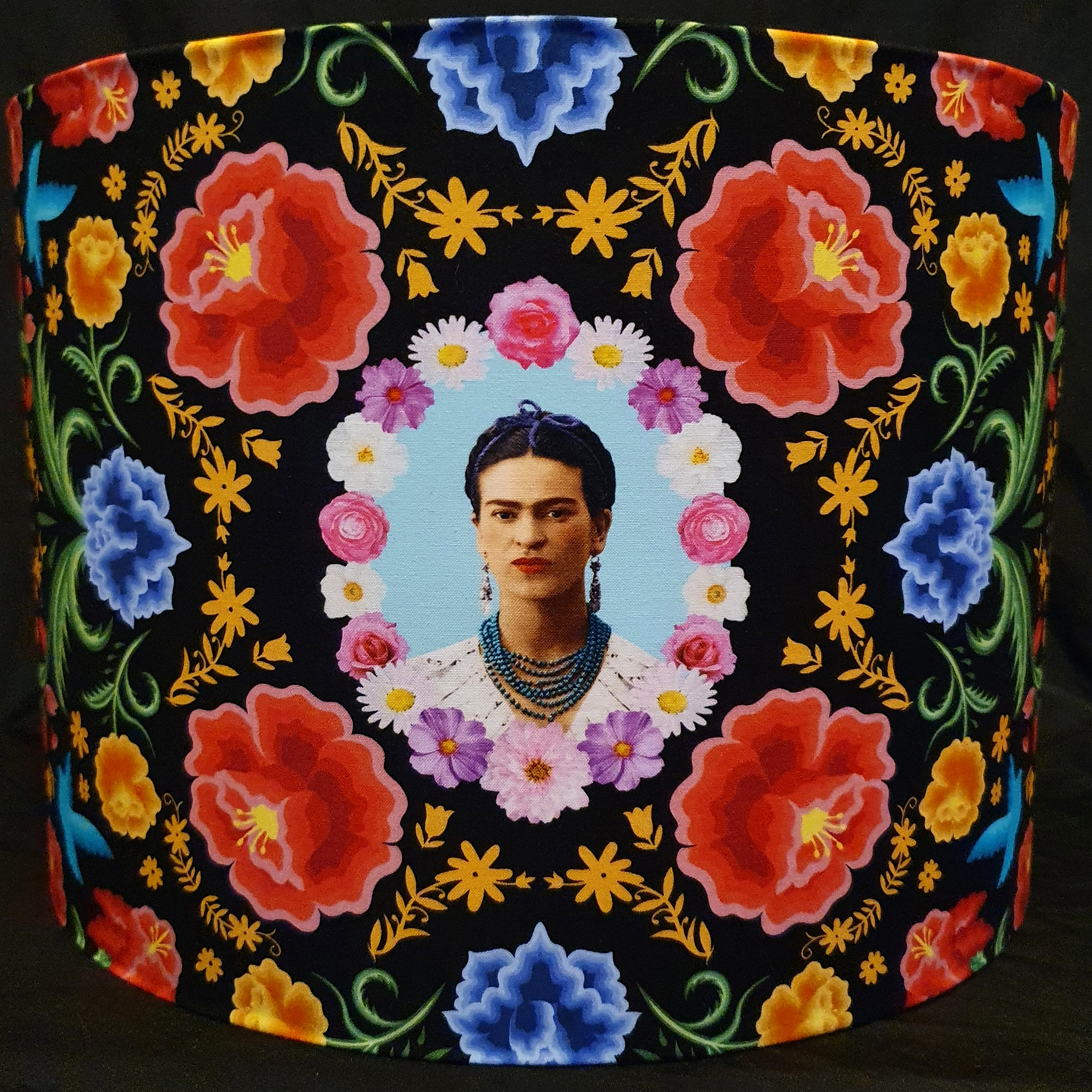 Frida Kahlo Floral black