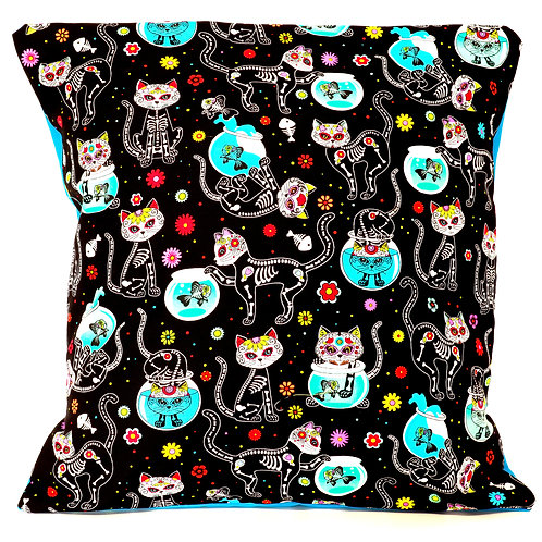 Day of the Dead Cat Cushion