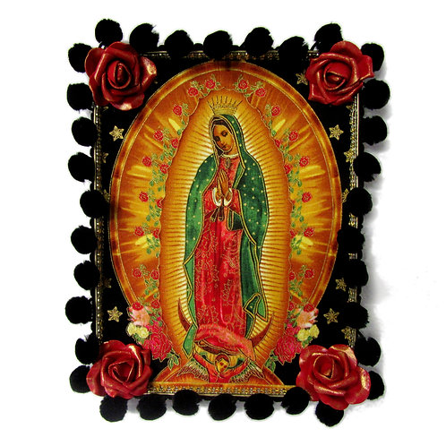 Our Lady Of Guadalupe Gold Tin Box Art