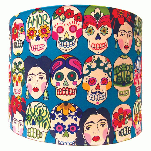 Amor Frida Calaveras Light shade blue/orange/cream