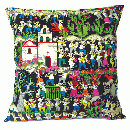Mexican Puebla Mission Cushion
