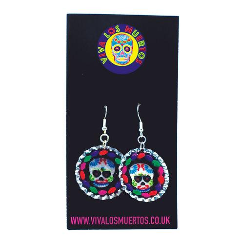 Mexican Bottletop Earrings
