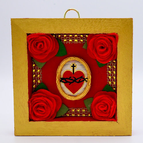 Embroidered Sacred Heart Box