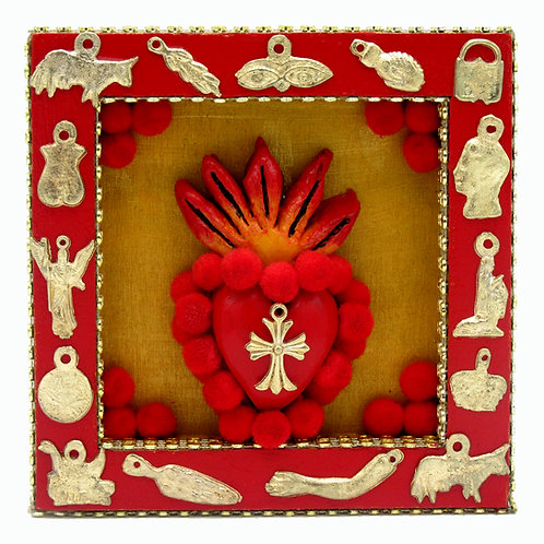 Sacred Heart Milagro/Cross Nicho