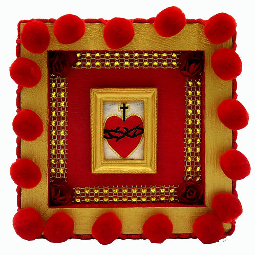 copy of Embroidered Sacred Heart Box