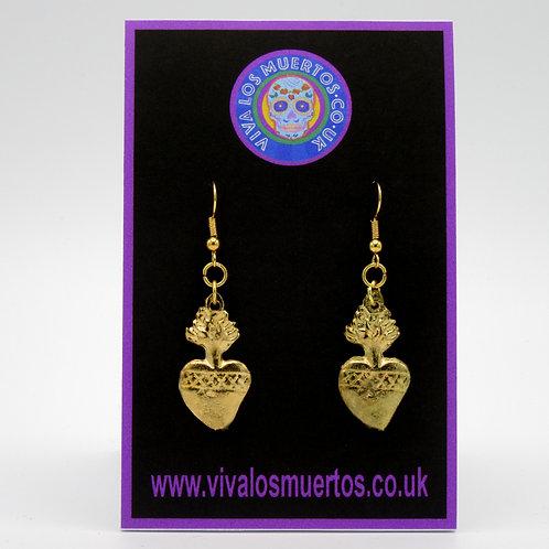 Sacred Heart Earrings-Costume Jewellery